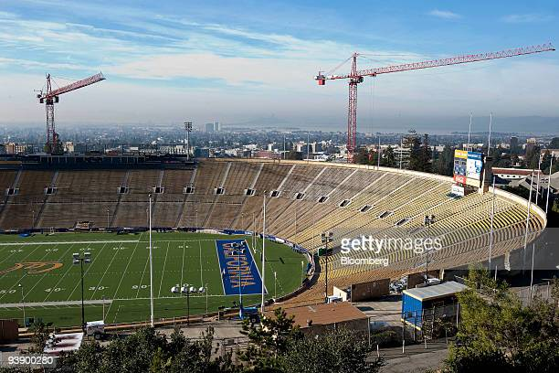 Renovation continues on the University of California Berkeley stadium in Berkeley California US on Tuesday Dec 1 2009 Berkeley the topranked public...