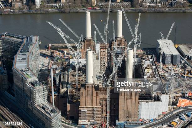 Renovation of Battersea Power Station as part of the Nine Elms Development London 2018 Artist Historic England Staff Photographer