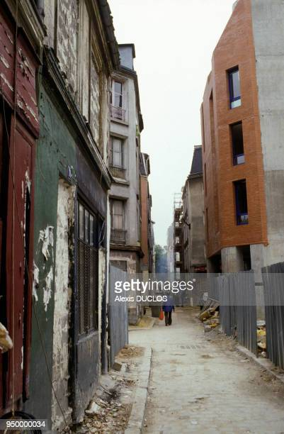 Renovation of Ilot Chalon near the Gare de Lyon with new buildings in September 1987 in Paris France