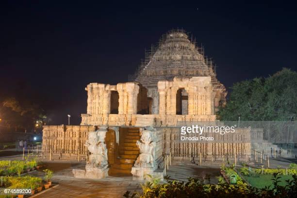 Renovation sun temple, konark, orissa, india, asia