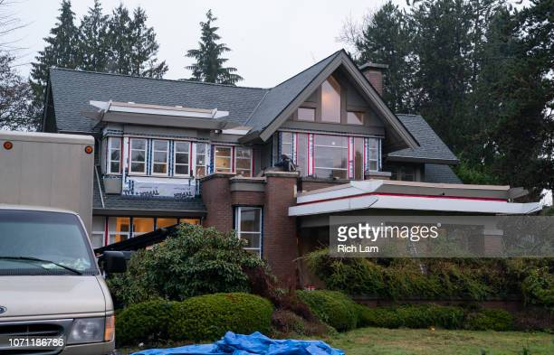 Renovations continue on one of two homes reported to be owned by Huawei Technologies CFO Meng Wanzhou on December 10 2018 in Vancouver Canada Wanzhou...