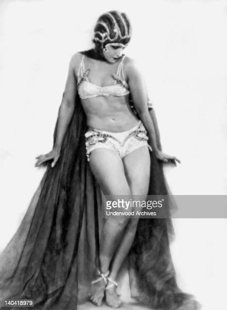 Renowned Russian danseuse Nikolska who has been enchanting patrons in Paris France circa 1927