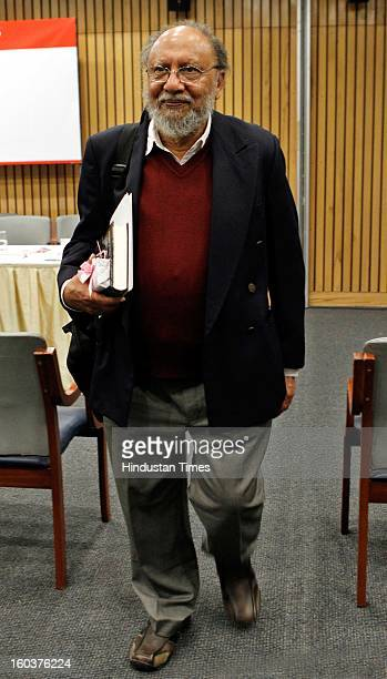 Renowned Sociologist Ashis Nandy at the release of Professor Mushirul Hasan's book 'Faith and Freedom Gandhi in History' on January 30 2013 in New...