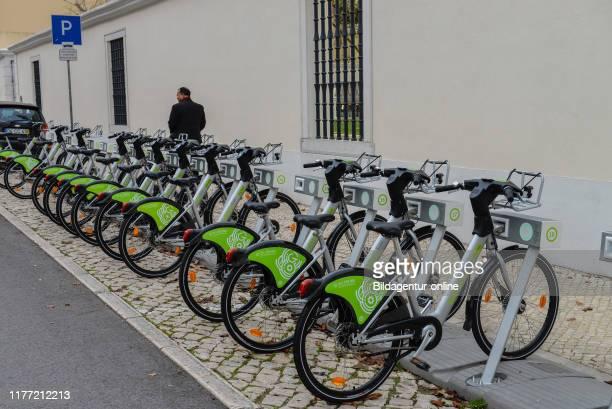 Rental bicycles' - 'Gira Bicicletas de Lisboa, Lisbon, Portugal, Leihfahrraeder «Gira Ð Bicicletas de Lisboa«, Lissabon.