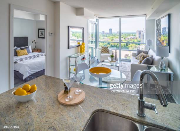 rental condo interior - flat stock pictures, royalty-free photos & images
