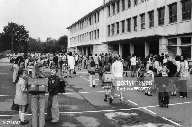 Rentrée des classes dans un collège en France