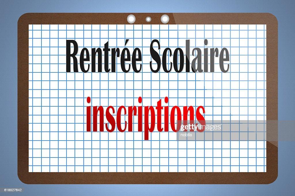 Rentrée Scolaire Inscriptions