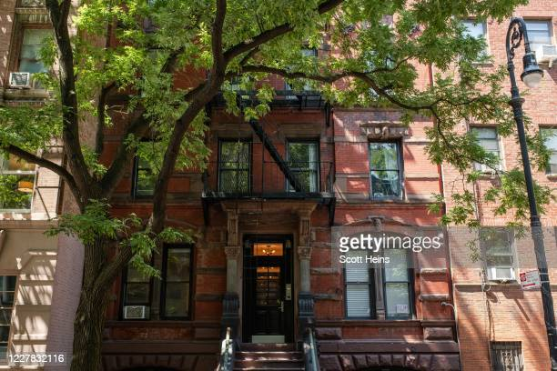 Rent-regulated apartment building in the West Village neighborhood on July 29, 2020 in New York City. Since the onset of the Coronavirus crisis,...