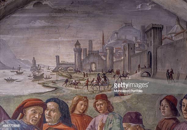 Renunciation of Worldly Goods by Domenico Ghirlandaio 14821486 15th Century fresco Italy Tuscany Florence Church of Santa Trinita Sassetti Chapel...