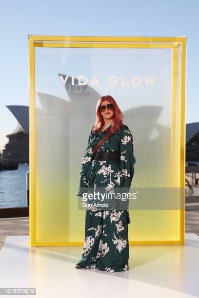 Renya Xydis attends the Vide Glow global launch at Sydney Harbour on May 17, 2021 in Sydney, Australia.