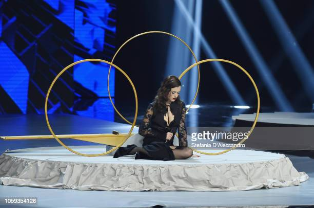 Renza Castelli attends X Factor tv show at Teatro Linear Ciak on November 8 2018 in Milan Italy
