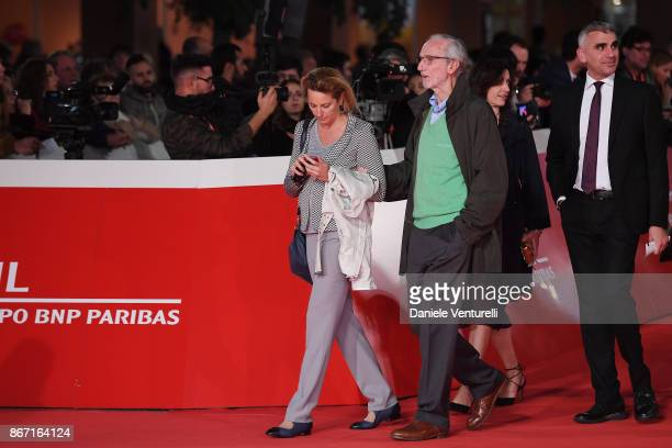 Renzo Piano and Emilia Rossato walk a red carpet for 'Cinque' during the 12th Rome Film Fest at Auditorium Parco Della Musica on October 27 2017 in...