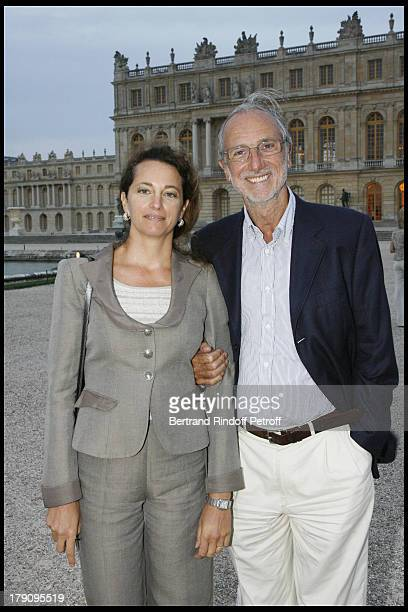 Renzo Piano and wife Milly at Exhibition Xavier Veilhan's Sculptures Displayed In The Royal Court Gardens Of Chateau De Versailles