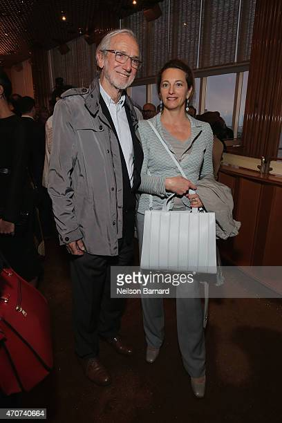 Renzo Piano Architect of the New Whitney Museum and wife Milly Piano attend the Max Mara Whitney Bag Launch Party at Top of the Standard Hotel on...