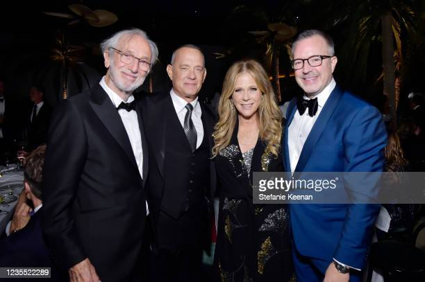 Renzo Piano, Tom Hanks, Rita Wilson and Academy Museum of Motion Pictures Director and President Bill Kramer attend the Academy Museum of Motion...