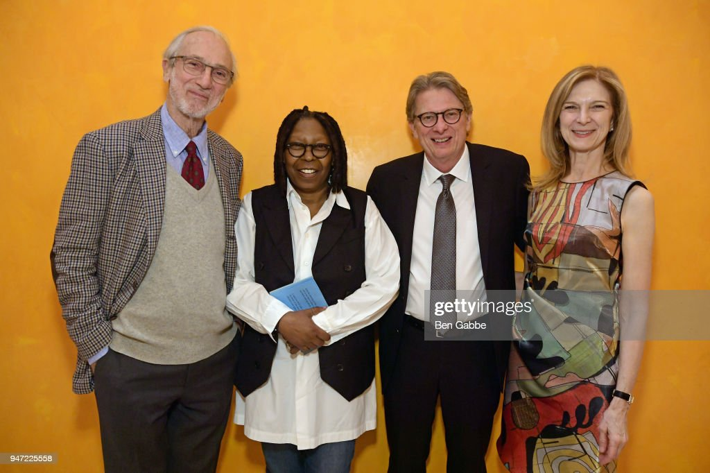 Renzo Piano, Whoopi Goldberg, Kerry Brougher, and Dawn Hudson attend the Academy Museum Conversation at The Times Center, featuring Whoopi Goldberg, Kerry Brougher and Renzo Piano, on April 16, 2018 in New York City.