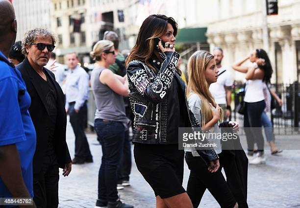 Renzo Rosso and Arianna Alessi are seen outside the Diesel Black Gold show during New York Fashion Week 2016 on September 15 2015 in New York City