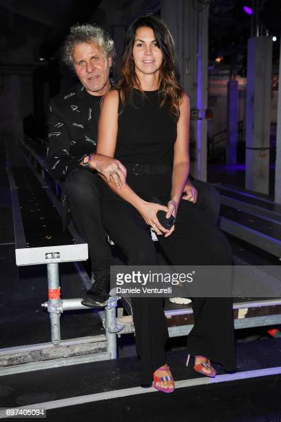 Renzo Rosso and Arianna Alessi arrive at the Dsquared2 show during Milan Men's Fashion Week Spring/Summer 2018 on June 18, 2017 in Milan, Italy.