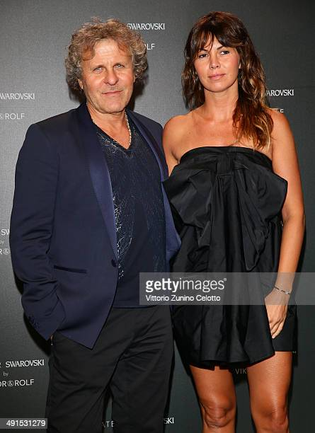 Renzo Rosso and Arianna Alessi attend a party hosted by Swarovski and Viktor & Rolf during the 67th Annual Cannes Film Festival on May 16, 2014 in...