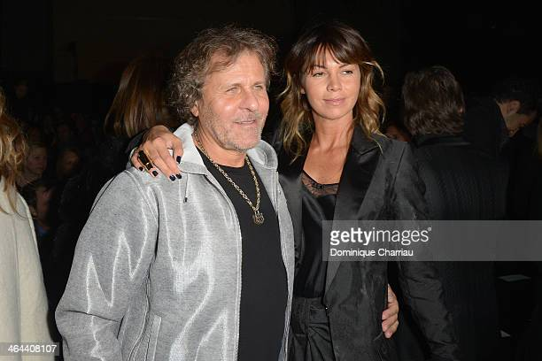 Renzo Rosso and Arianna Alessi attend the ViktorRolf show as part of Paris Fashion Week Haute Couture Spring/Summer 2014> on January 22 2014 in Paris...