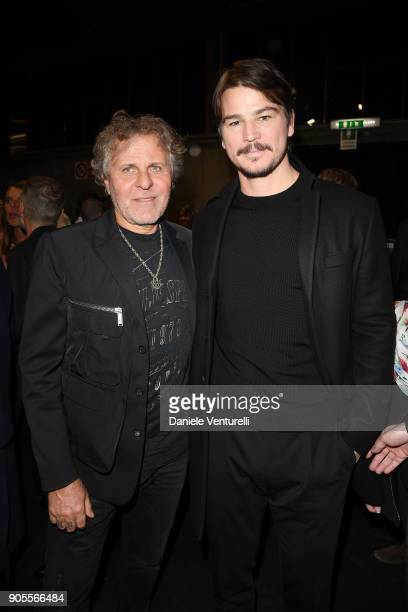 Renzo Rosso and Josh Hartnett attend the Dsquared2 show during Milan Men#39s Fashion Week Fall/Winter 2018/19 on January 14 2018 in Milan Italy