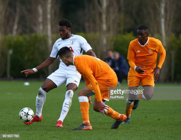 Reo Griffiths of Tottenham Hotspur U19s during UEFA Youth League Quarter Final match between Tottenham Hotspur U19s and FC Porto U19s at Tottenham...