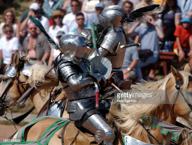 Reo2 08/05/02 Renaissance Festival in Milton Knights go head to head in jousting match at 7th annual Ontario Renaissance festival Monday near Milton...