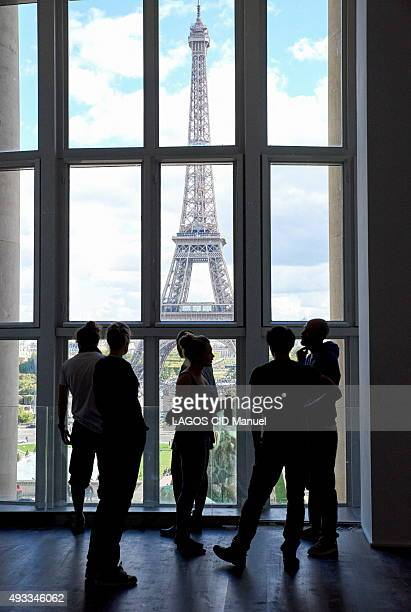 Reopening of the Musee de L'Homme in Paris after six years of work; September 23, 2015. From the museum at the Tocadero view over Paris and the Tour...
