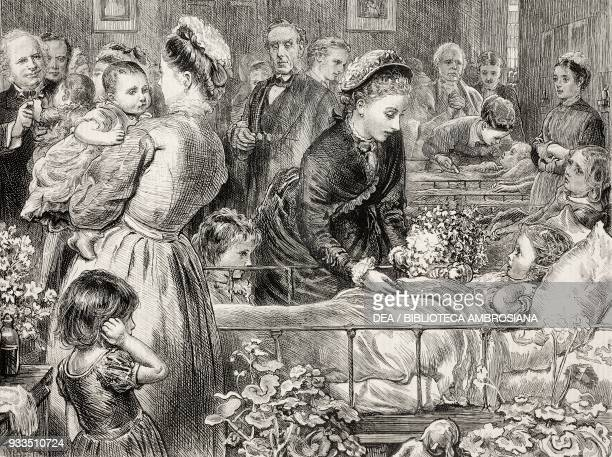 Reopening of the Victoria Hospital for sick children by Princess Louise Chelsea London United Kingdom illustration from the magazine The Graphic...