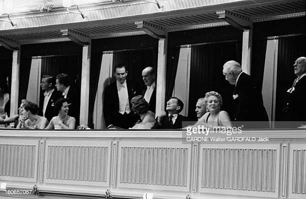 Reopening Of The Vienna Opera Vienne 5 novembre 1955 Grand gala pour la réouverture de l'Opéra d'État de Vienne avec l'opéra Fidelio de Beethoven Aux...