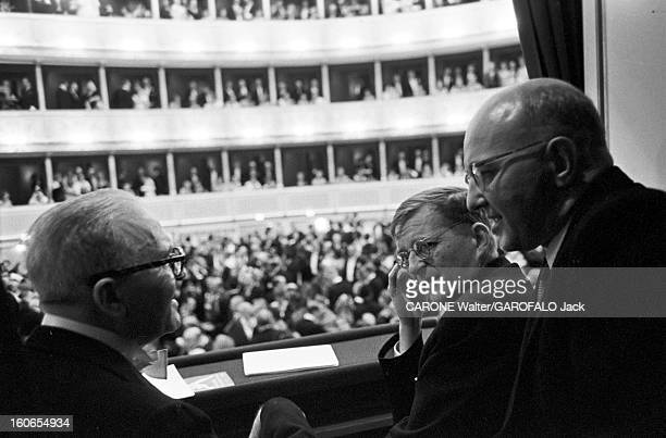Reopening Of The Vienna Opera Vienne 5 novembre 1955 Grand gala pour la réouverture de l'Opéra d'État de Vienne avec l'opéra Fidelio de Beethoven...