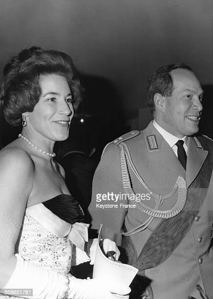 Reouverture de l'Opera en presence du Prince Konstantin de Baviere et de sa femme la Princesse Maria Adelgunde de HohenzollernSigmaringen le 22...