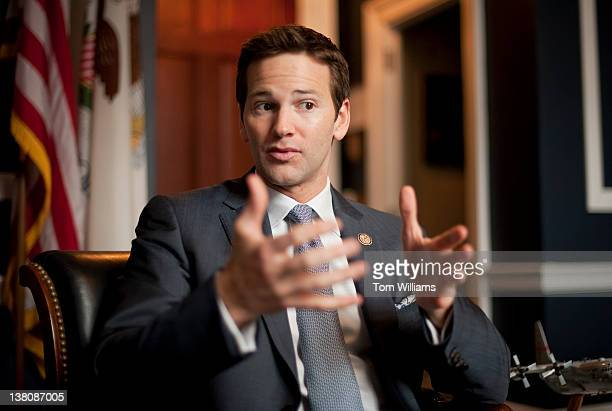 Rep Aaron Schock RIll is interviewed by Roll Call in his Longworth office