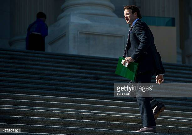 Rep Aaron Schock RIll walks up the House steps to the Capitol for a series of votes on Thursday Feb 27 2014