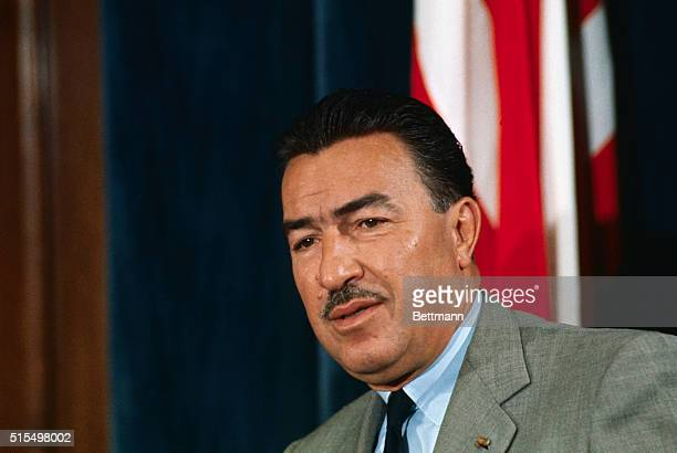 Rep Adam Clayton Powell is shown during his press conference at the Capitol March 30 At the conference Powell announced he will seek $7 billion for...