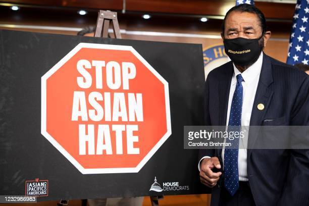 May 18: Rep. Al Green, D-Texas, departs from a news conference on the COVID-19 Hate Crimes Act in Washington on Tuesday, May 18, 2021.