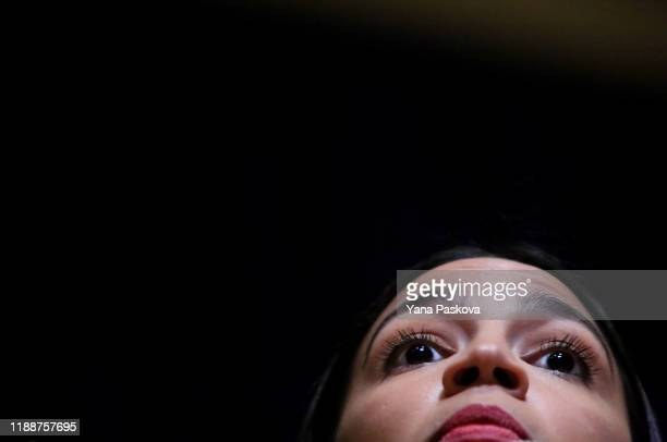 Rep. Alexandria Ocasio-Cortez speaks during a Green New Deal For Public Housing Town Hall on December 14, 2019 in the Queens borough of New York City.