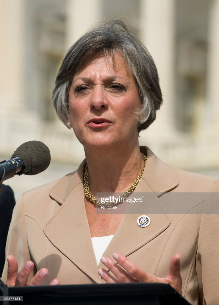 Rep. Allyson Schwartz, D-Pa., speaks during a news conference at the House Triangle on health information technology on Tuesday, Sept. 22, 2009.