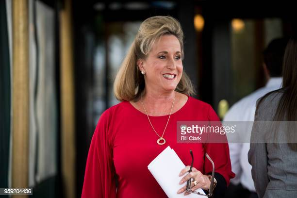 Rep Ann Wagner RMo leaves the House Republican Conference meeting at the Capitol Hill Club on Wednesday May 16 2018
