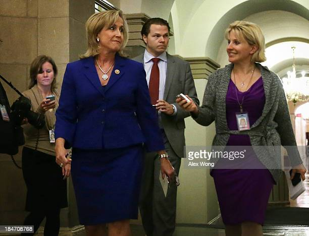 S Rep Ann Wagner walks by reporters at the US Capitol October 15 2013 on Capitol Hill in Washington DC The US Government is on its 15th day of a...