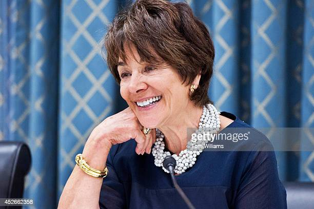 Rep Anna Eshoo DCalif appears at a Communications and Technology Subcommittee hearing on in Rayburn on 'AntiSpoofing Act of 2013' the 'LPTV and...