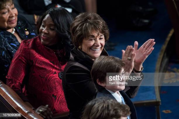 Rep Anna Eshoo DCalif is seen in the Capitol's House chamber before members were sworn in on the first day of the 116th Congress on January 3 2019
