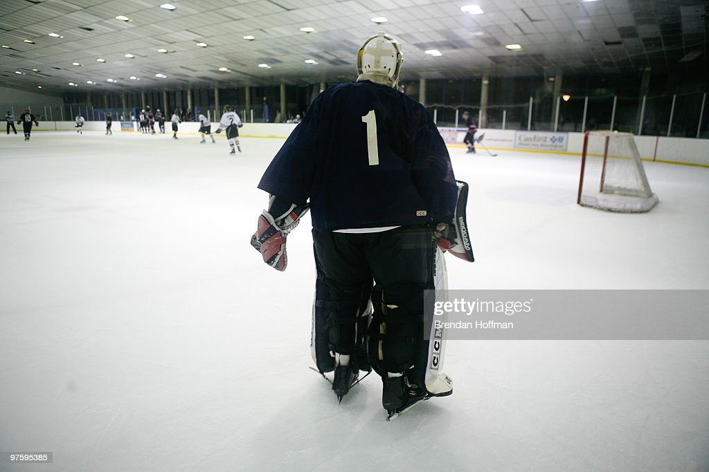 Rep. Anthony Weiner (D-NY) plays goalie during the Congressional Hockey Challenge on March 9, 2010 in Washington, DC. The game matches members of Congress and Congressional staff against lobbyists for major corporations as a benefit for the Fort Dupont Ice Hockey Club.