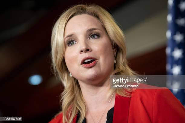 June 15: Rep. Ashley Hinson, R-Iowa, speaks during a news conference following the House Republicans caucus meeting in Washington on Tuesday, June...