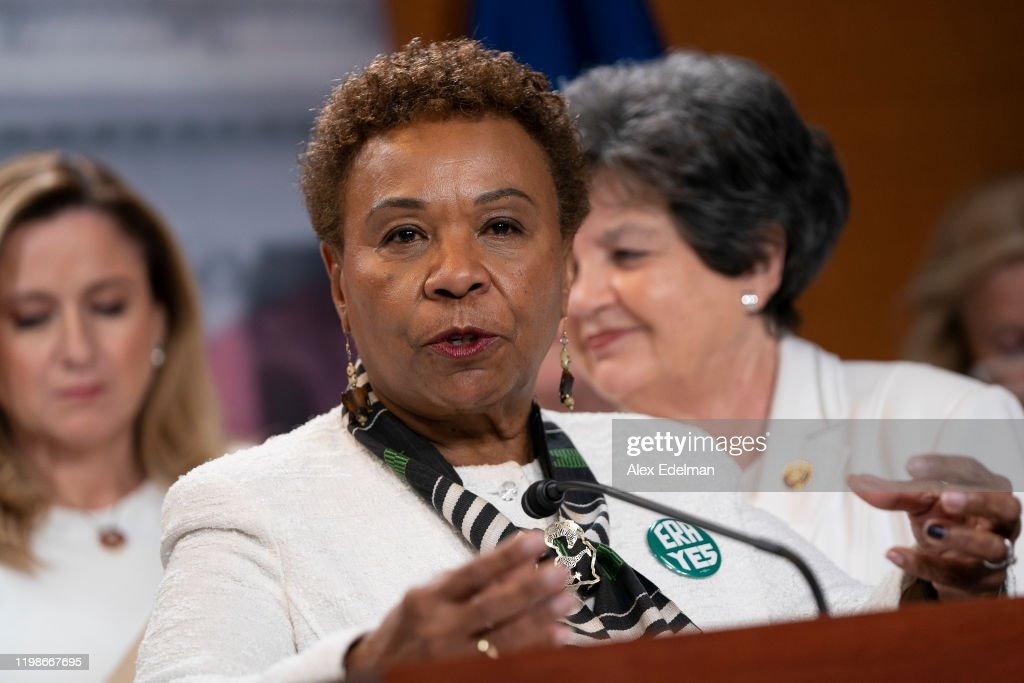"""Democratic Women's Caucus Holds """"State Of Women"""" Press Conference : News Photo"""