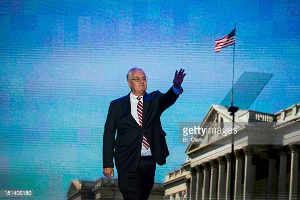 Rep Barney Frank DMass speaks at the Democratic National Convention at Time Warner Cable Arena in Charlotte NC on Thursday Sept 6 2012