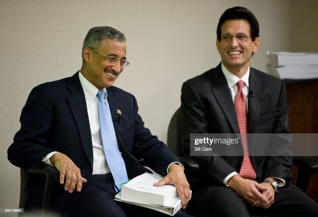 Rep. Bobby Scott, D-Va., left, and House Republican Whip Eric Cantor, R-Va., participate in the 'Public Square' event on health care reform, hosted by the Richmond Times Dispatch in Richmond, Va., on Monday morning, Sept. 21, 2009.