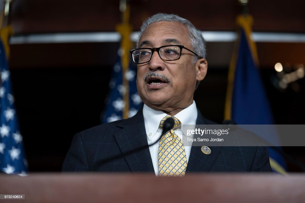 Rep. Bobby Scott (D-VA) speaks during a news conference held by House Democrats condemning the Trump Administration's targeting of the Affordable Care Act's pre-existing condition, in the US Capitol on June 13, 2018 in Washington, DC.