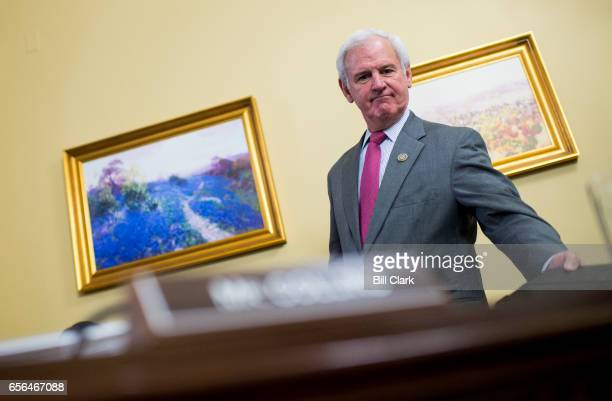 Rep Bradley Byrne RAla arrives for the House Rules Committee meeting to formulate a rule on HR1628 the American Health Care Act of 2017 on Wednesday...
