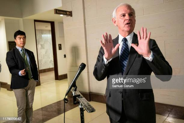 S Rep Bradley Byrne speaks to the media outside of the Sensitive Compartmented Information Facility after delivering a letter demanding access to...